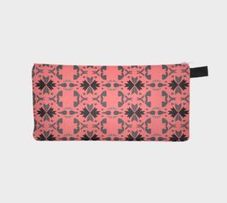 Pencil case, pink grey Ornaments I preview