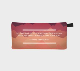 Hemingway Quote Pencil Case preview