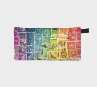 Aperçu de Rainbow Postage Stamp Pencil Case