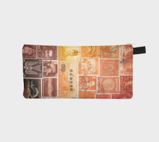 Sunset Glow Postage Stamp Pencil Case preview