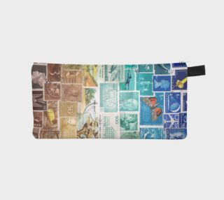 Beachy - Postage Stamp Zip Pouch preview