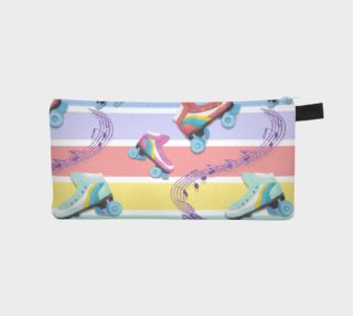 Rainbow Pastel Roller Skates Pencil Case preview