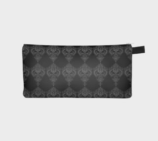 White on Black Damask Pencil Case preview