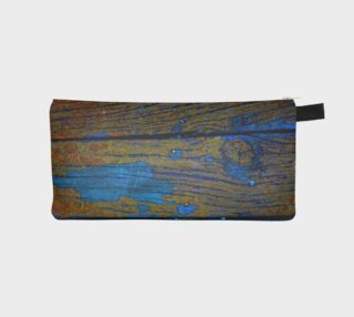 Turquoise Wood Pencil Case preview