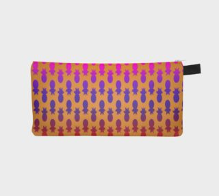 Colorful pineapples orange pencil case  preview
