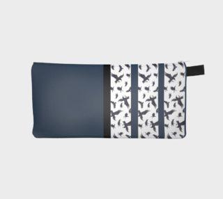 Ravens Pattern Stripe Blue Pencil case preview
