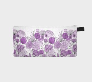 Purple Flowers Pencil Case preview