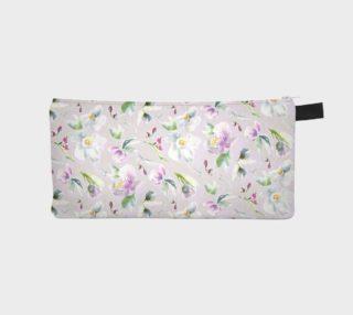 Aperçu de Feminine Pastel Floral Zip Pouch