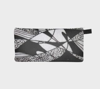 Aperçu de Étui à crayon-Griffe Noir et blanc-micheline-plante