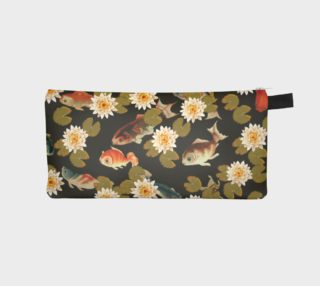 Koi & Lily Pads in Dark Water - Pencil Case preview