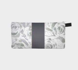 Aperçu de Gray Rose Pencil Case