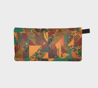 Abstract Safari Print Pencil Case preview