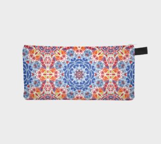 Blue and Orange Kaleidoscope Pencil Case preview