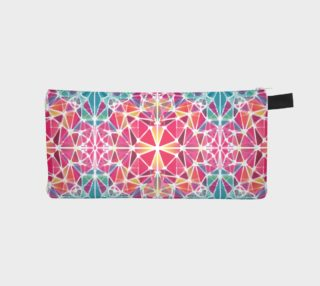 Pink and Blue Kaleidoscope Pencil Case preview