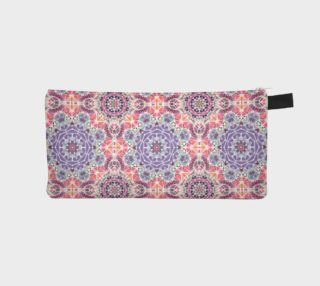 Purple and Pink Kaleidoscope Pencil Case preview