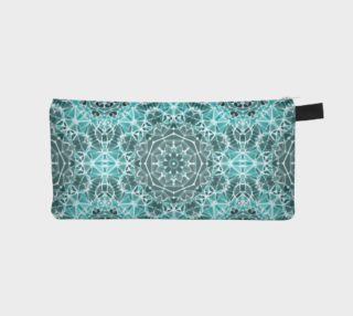 Turquoise & Gray Kaleidoscope Pencil Case preview