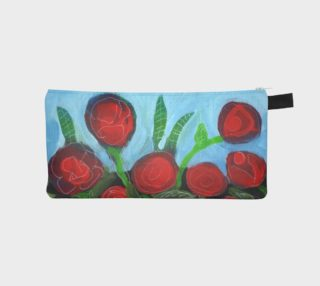 Red Flower Garden Pencil Case preview