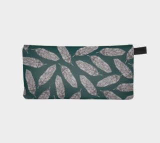 Petrol Feathers Pattern Pencil Case preview