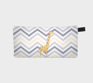 Giraffe and chevron - pencil case preview