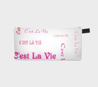 Fuchsia C'est la Vie Pencil Case preview