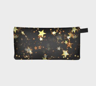 black gold stars pencil case  preview