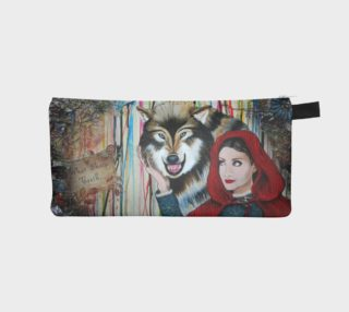 Red and the Big Mad Wolf Zippered Pouch preview