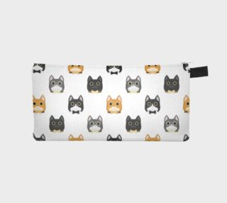 Cat small pattern pencil case preview