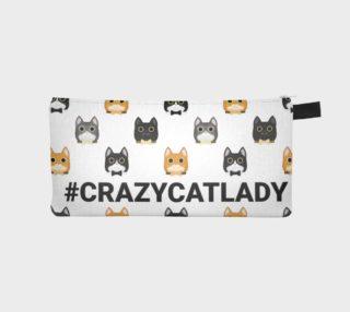 #crazycatlady pencil case preview