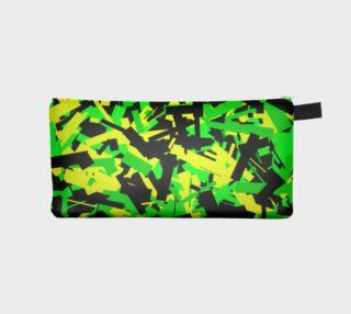Neon Green Black Geometric Pencil Bag preview