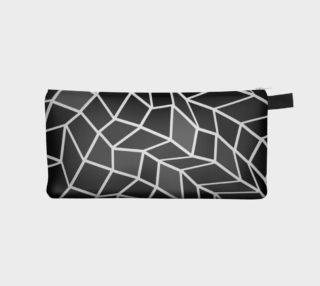 Black White Grey Geometric Makeup Bag preview
