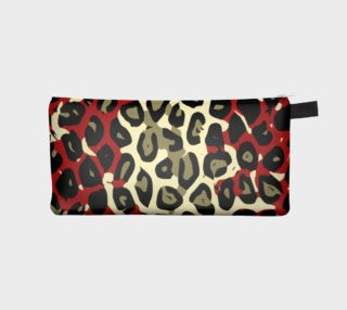 Red Black Cheetah Camouflage Pencil Bag  preview