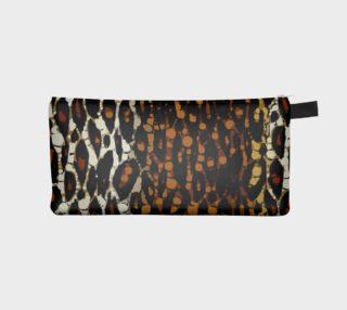 Abstract Cheetah Print Pencil Bag preview