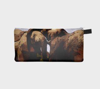 Elephants Embrace Pencil Bag  preview