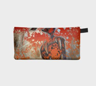 Lion Roaring Paint Splatter Pencil Bag  preview