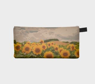 Beautiful Abstract Sunflower Field Pencil Bag  preview