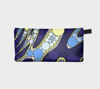 Blue Black Abstract Round Pattern Pencil Bag  preview
