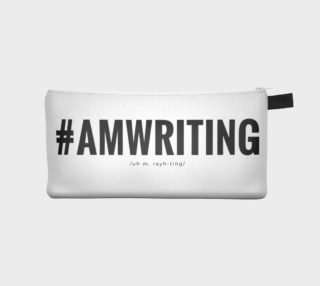 #AMWRITING Black/White Pencil Case preview
