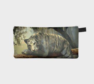 Beautiful Tiger Relaxing Scenery Pencil Bag  preview