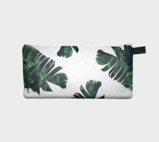 Banana Leaf Watercolor Pattern Pencil Case preview