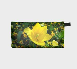 Yellow Flower Pencil Case aperçu
