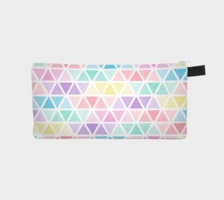 Triangles Pastel Color Pencil Case preview