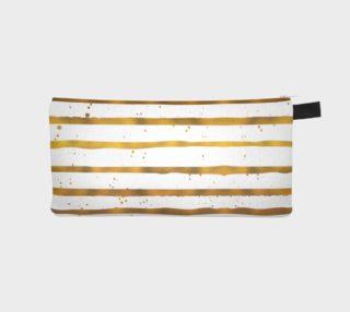 Gold Stripe Pencil Case preview