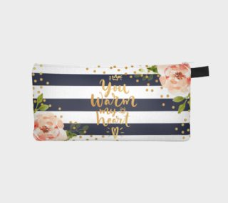 Floral Navy Blue Stripes & Gold preview