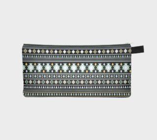 Aztec Black Print Pencil Case preview