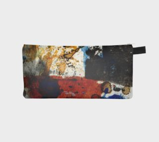 rust blue and ocher pencil pouch preview