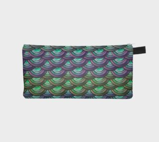 Mermaid, Serpent, Watercolor, Dragon Scales Pencil Case preview