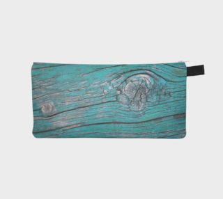 Wood Knots Turquoise Pencil Case preview