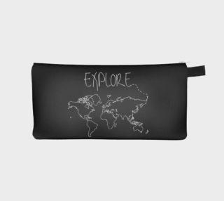 Explore World Map Pencil Case preview