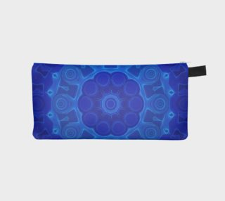 Blue Mandala Flower Art Pencil Case preview