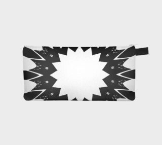 Star Black and White Pencil Case preview